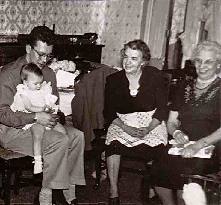 Dad, Patty, Grandma Jenkins, and Grandma Ranscht